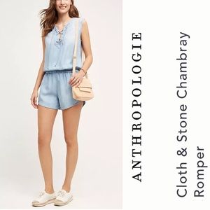 Cloth & Stone Chambray Rompers